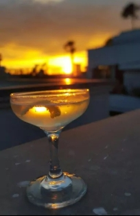 Lemon Drop Martini and sunset; Paradise!